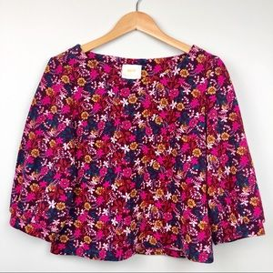 Anthropologie Maeve Floral Blouse Size M